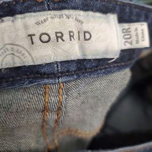 torrid Jeans - Torrid Relaxed Boot Slightly Distressed Jeans J96
